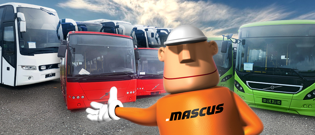 Used Volvo buses selling on Mascus